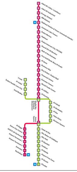خريطة مترو دبي 2019 ترافليات