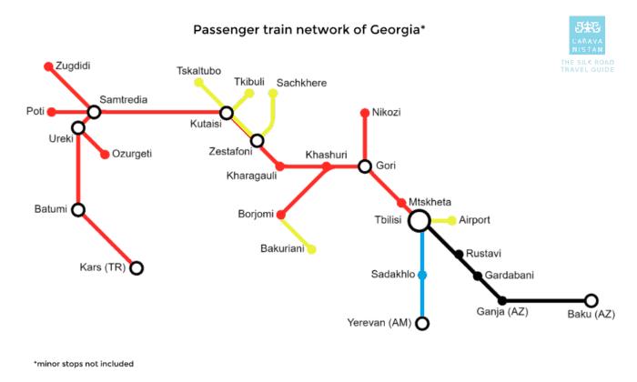 خريطة قطار جورجيا
